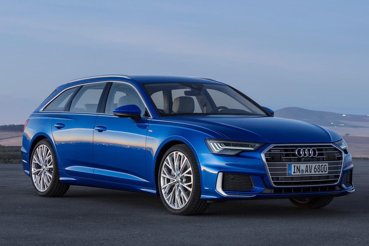 Audi A6 Avant 2018, tres cuartos delantero