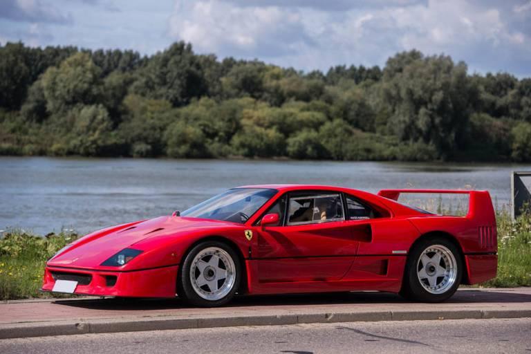 Ferrari F40 - Altura al suelo