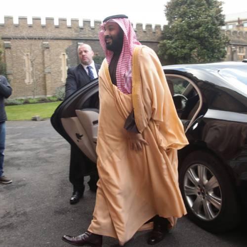 Los cochazos que forman la escolta del Príncipe de Arabia Saudí