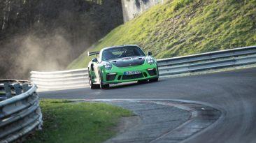 Porsche 911 GT3 RS en Nürburgring.