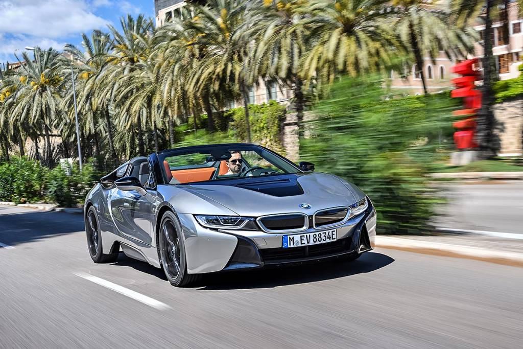 prueba BMW i8 Roadster delantera Mallorca