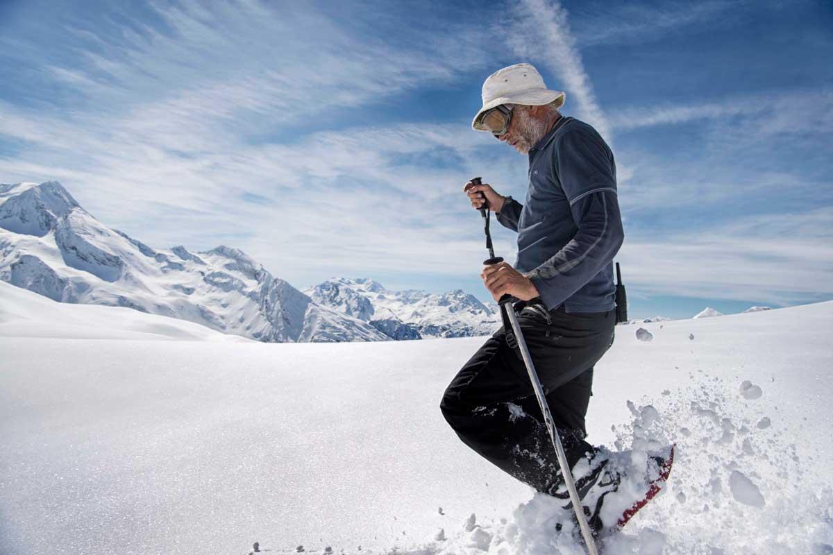 Simon Beck, artista de nieve