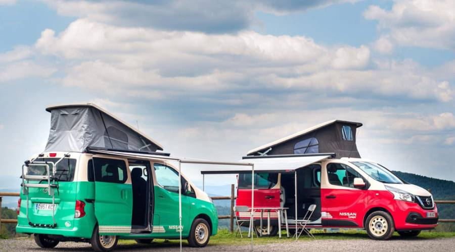 Nissan NV200 Camper y Nissan NV300 Camper, el mejor compañero de viaje