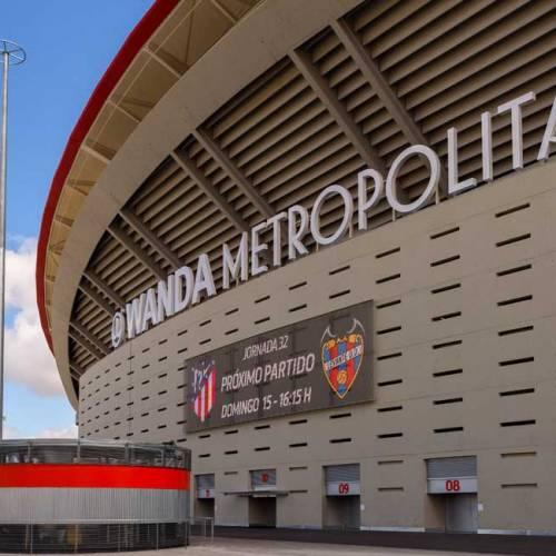 Detienen a una persona por conducción temeraria en el parking del Wanda Metropolitano