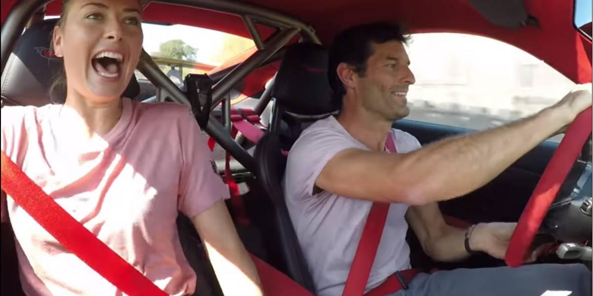 Mark Webber y María Sharapova: reto de velocidad sobre un Porsche 911 GT2 RS
