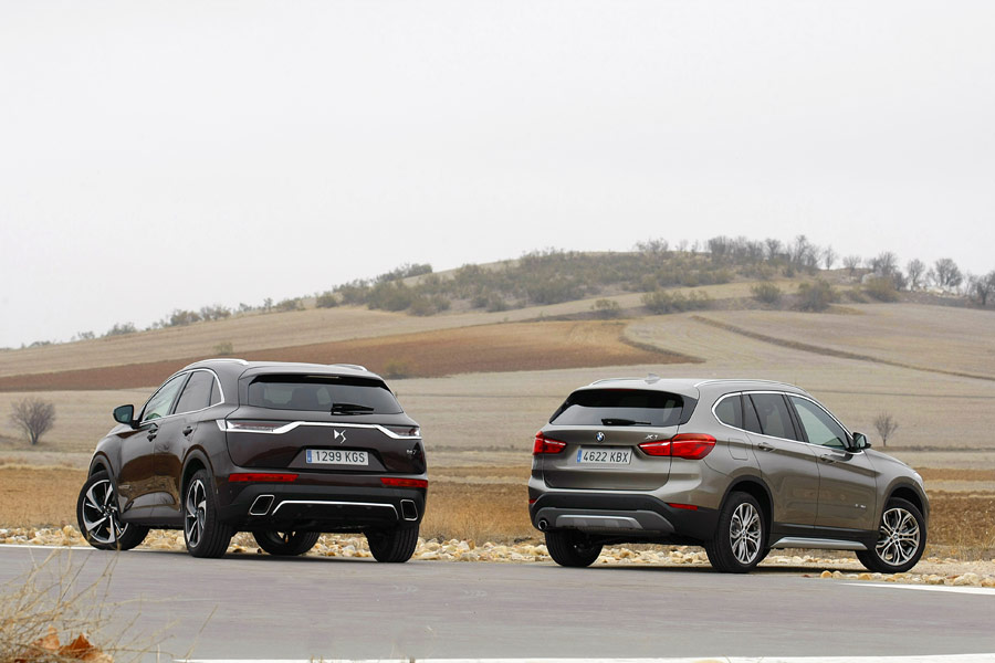 Comparativa: BMW X1 SDrive 18d vs. DS 7 Crossback BlueHDi 180, Alemania vs Francia