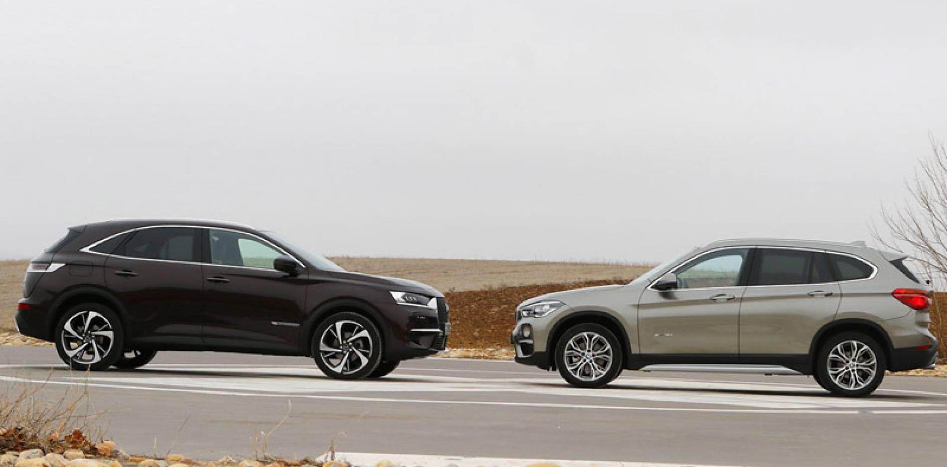 Comparativa: BMW X1 SDrive 18d vs. DS 7 Crossback BlueHDi 180, como en el fútbol