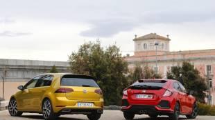 Volkswagen Golf vs Honda Civic, frente a frente