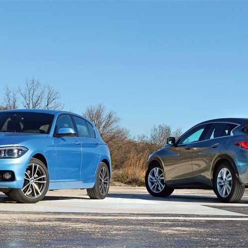 Comparativa: BMW 116d 5P Auto vs. Infiniti Q30 1.5D Premium 7DCT, ¿quién ganará?