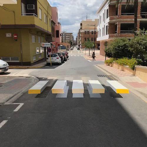 Llega a España el primer paso de peatones en 3D