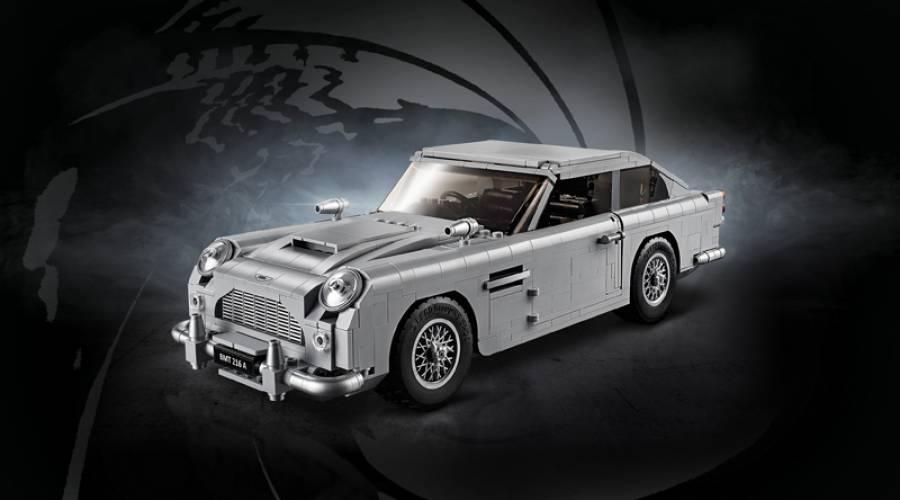 Fabrican el mítico Aston Martin DB5 de James Bond con ¡piezas de LEGO!