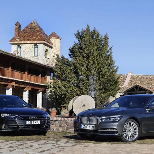 Comparativa Audi A8 50 TDI quattro Tiptronic vs. BMW 730d, lucha de titanes