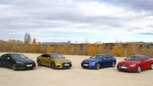 Comparativa Audi A5 Sportback vs. BMW 420d vs. Kia Stinger vs. Volkswagen Arteon, al detalle