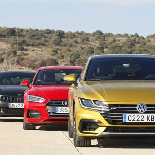 Comparativa: Audi A5 Sportback vs. BMW 420d vs. Kia Stinger vs. Volkswagen Arteon, bienvenidos al club