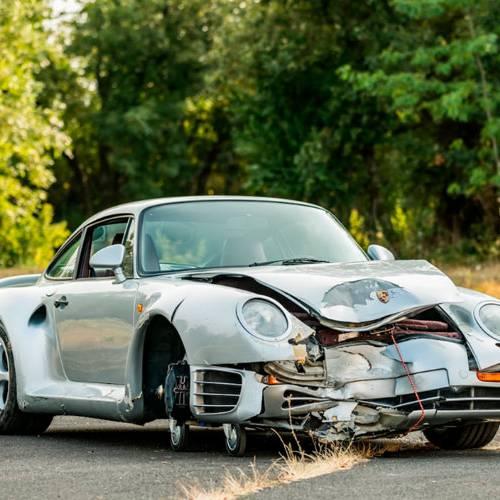 Compran un Porsche 959 accidentado por 425.000 dólares, ¿locura o inversión?