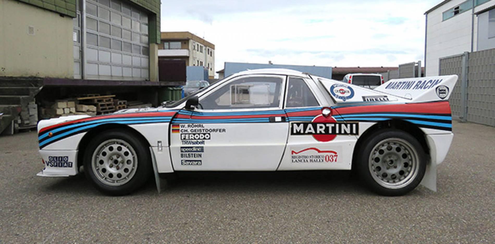 A la venta el Lancia 037 que ganó el Rally de Montecarlo en 1983