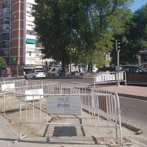 El barrio del Pilar en Madrid se queda sin la mitad de plazas de aparcamiento por obras