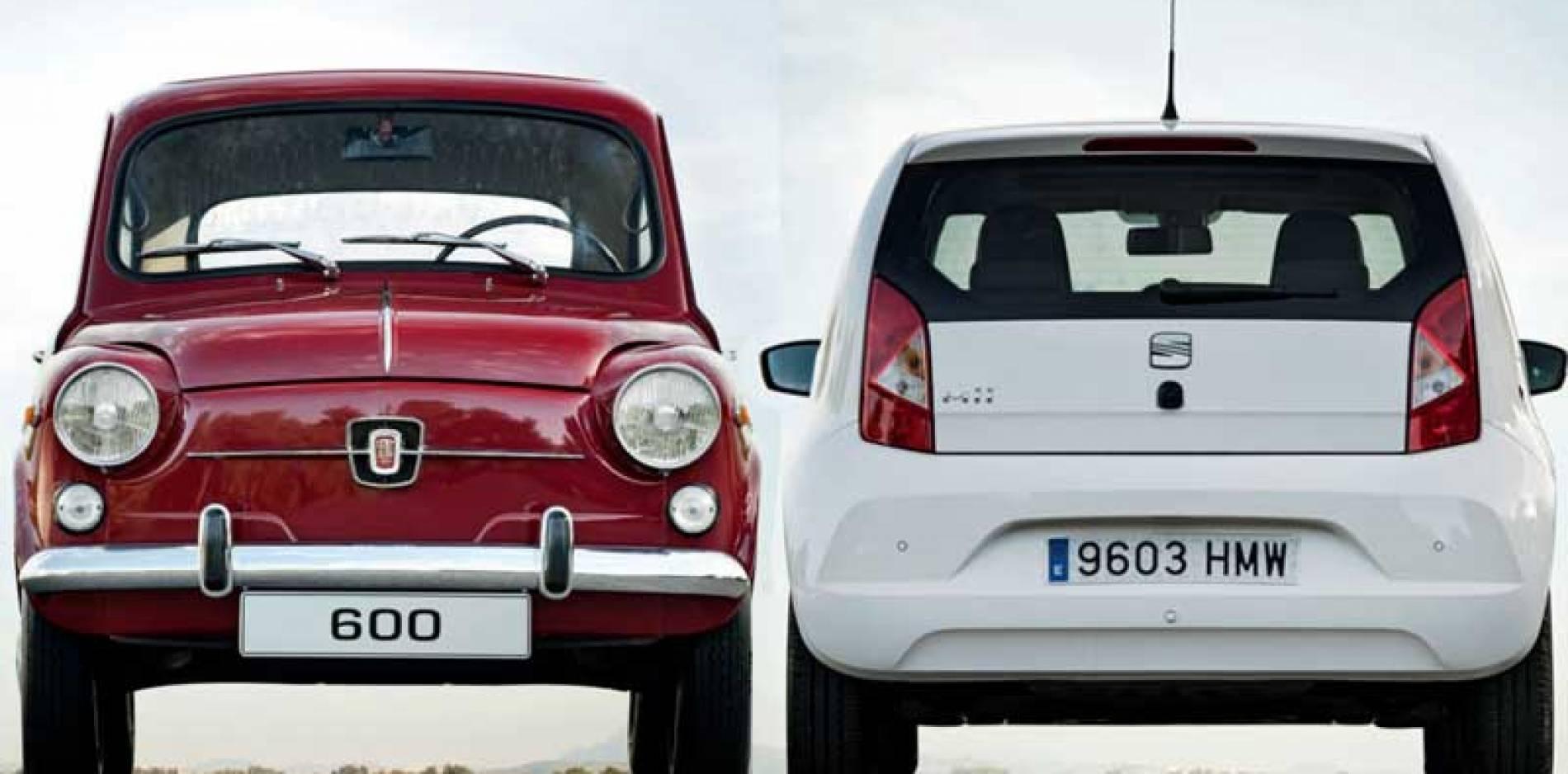 SEAT 600 vs. SEAT Mii: aquellos maravillosos años