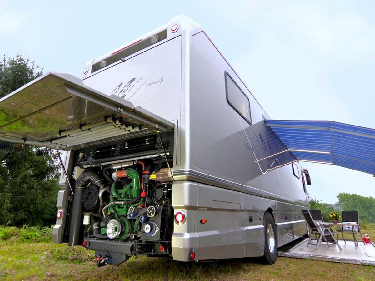motor de la autocaravana más cara del mundo
