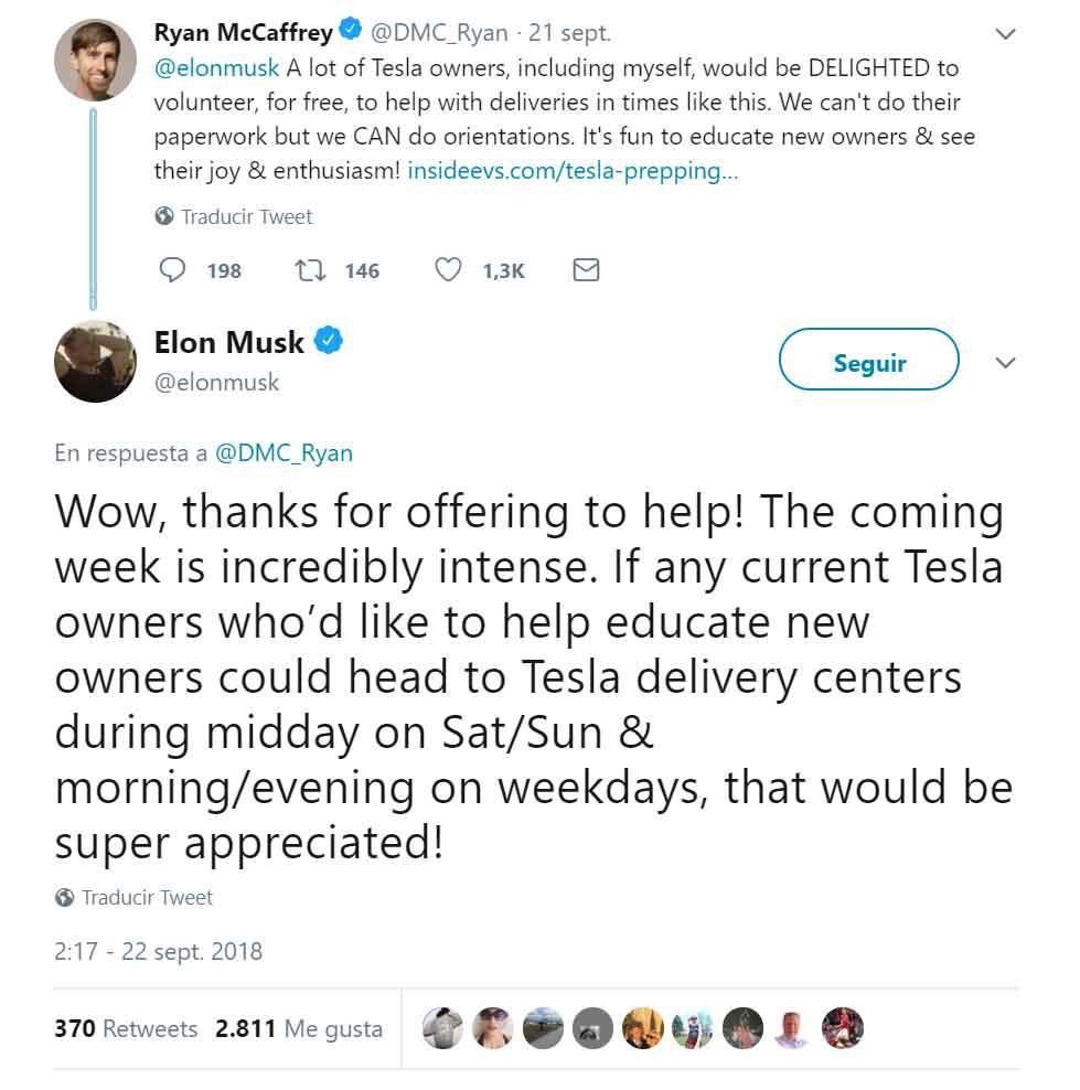 Captura del tweet de Elon Musk hablando de la situación/ Redes sociales.
