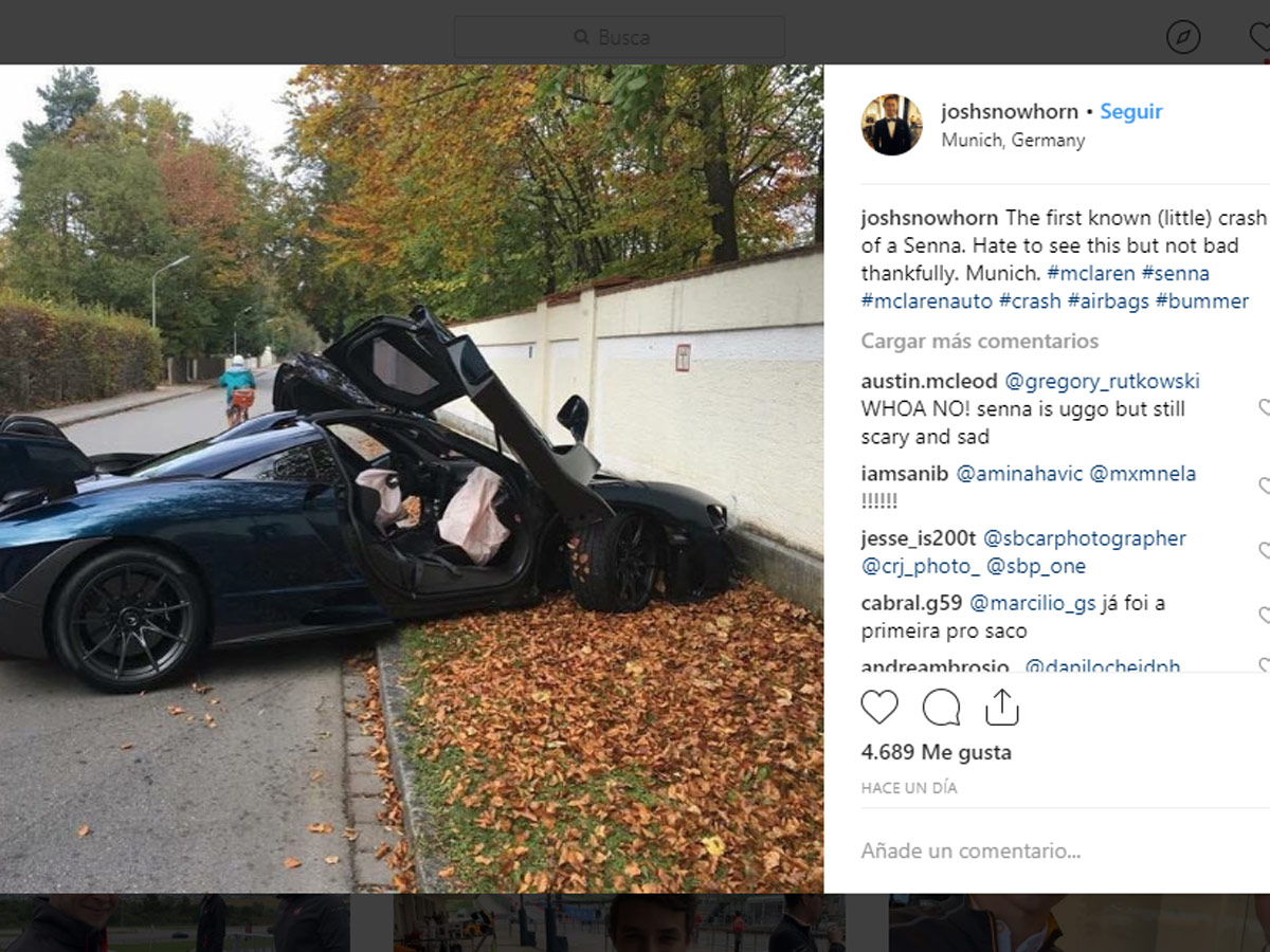 McLaren Senna estrellado