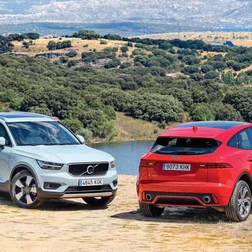 Enemigos íntimos: Jaguar E-Pace vs. Volvo XC40, a prueba