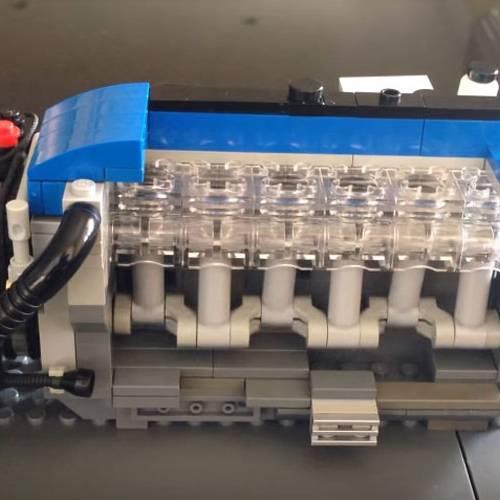 Crea un motor de coche sólo con piezas de LEGO que funciona