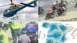 El helicóptero Pegasus vigila y multa a ciclistas