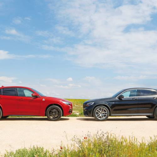 Alfa Romeo Stelvio Quadrifoglio vs. Mercedes-AMG GLC 63, ¿cuál es el rey de la carretera?