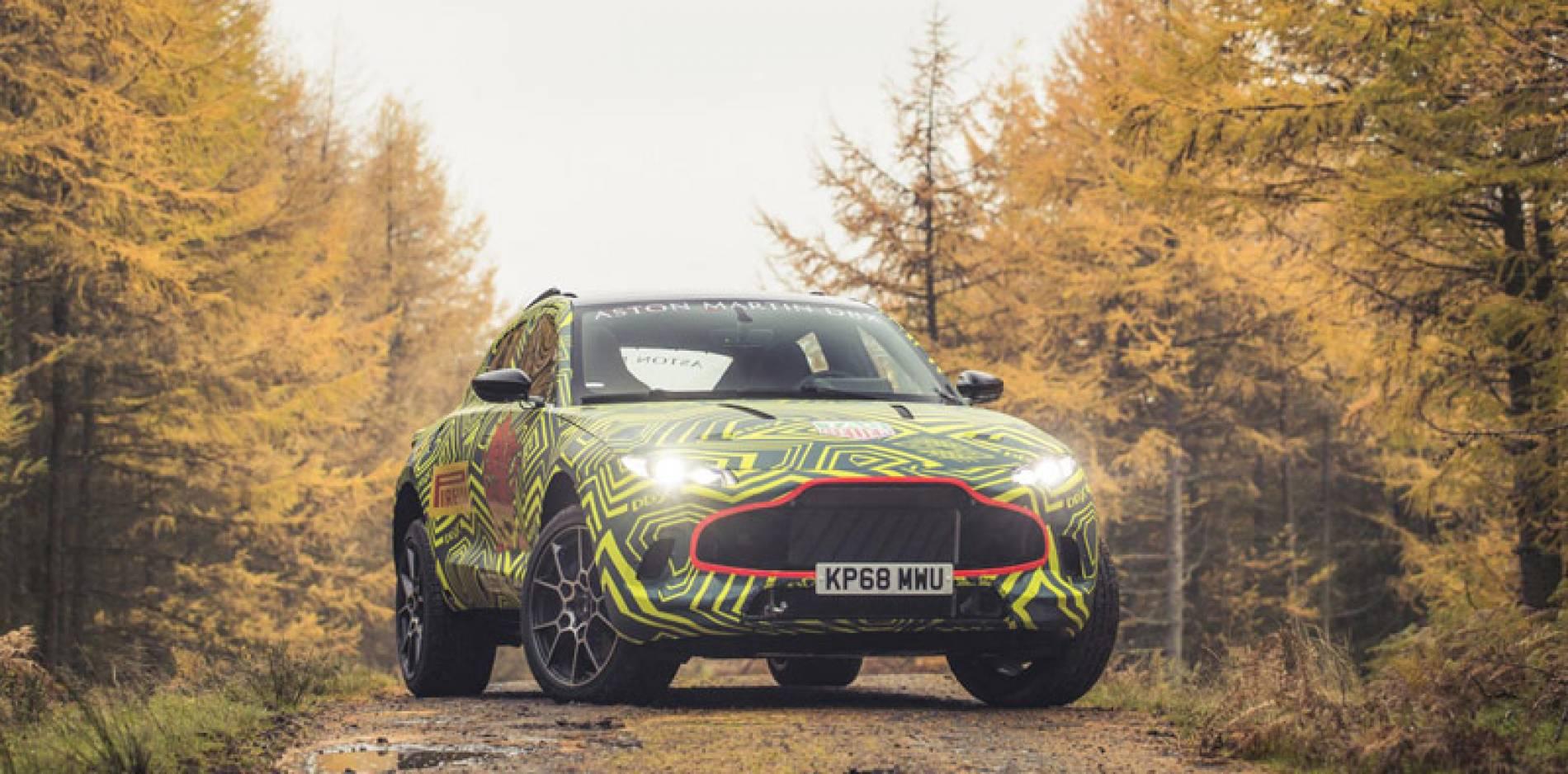 El Aston Martin DBX, el primer SUV de la británica, se deja ''ver''