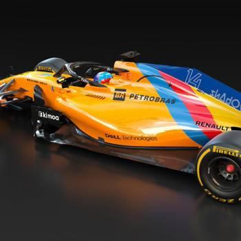 McLaren viste de Asturias y España el adiós de Fernando Alonso de la Fórmula 1