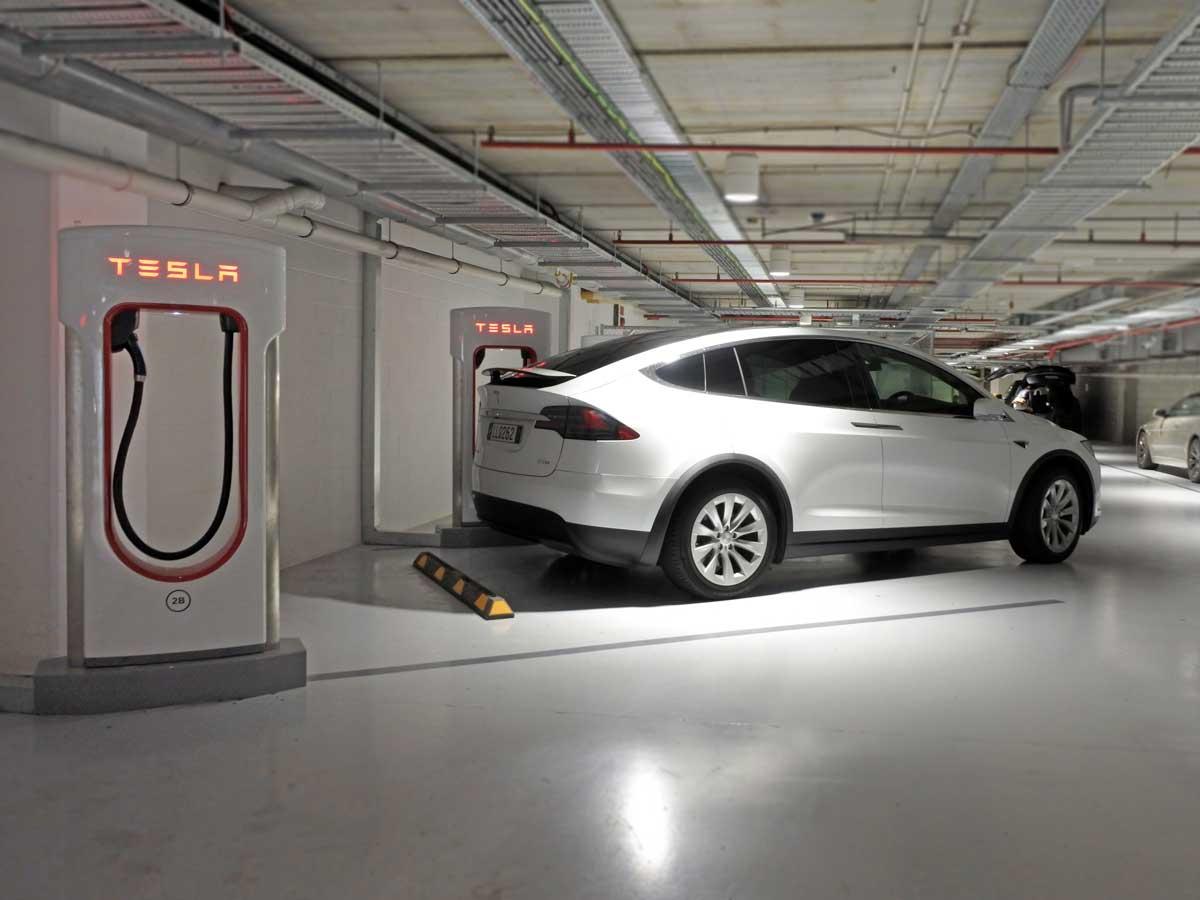 estación de carga Tesla