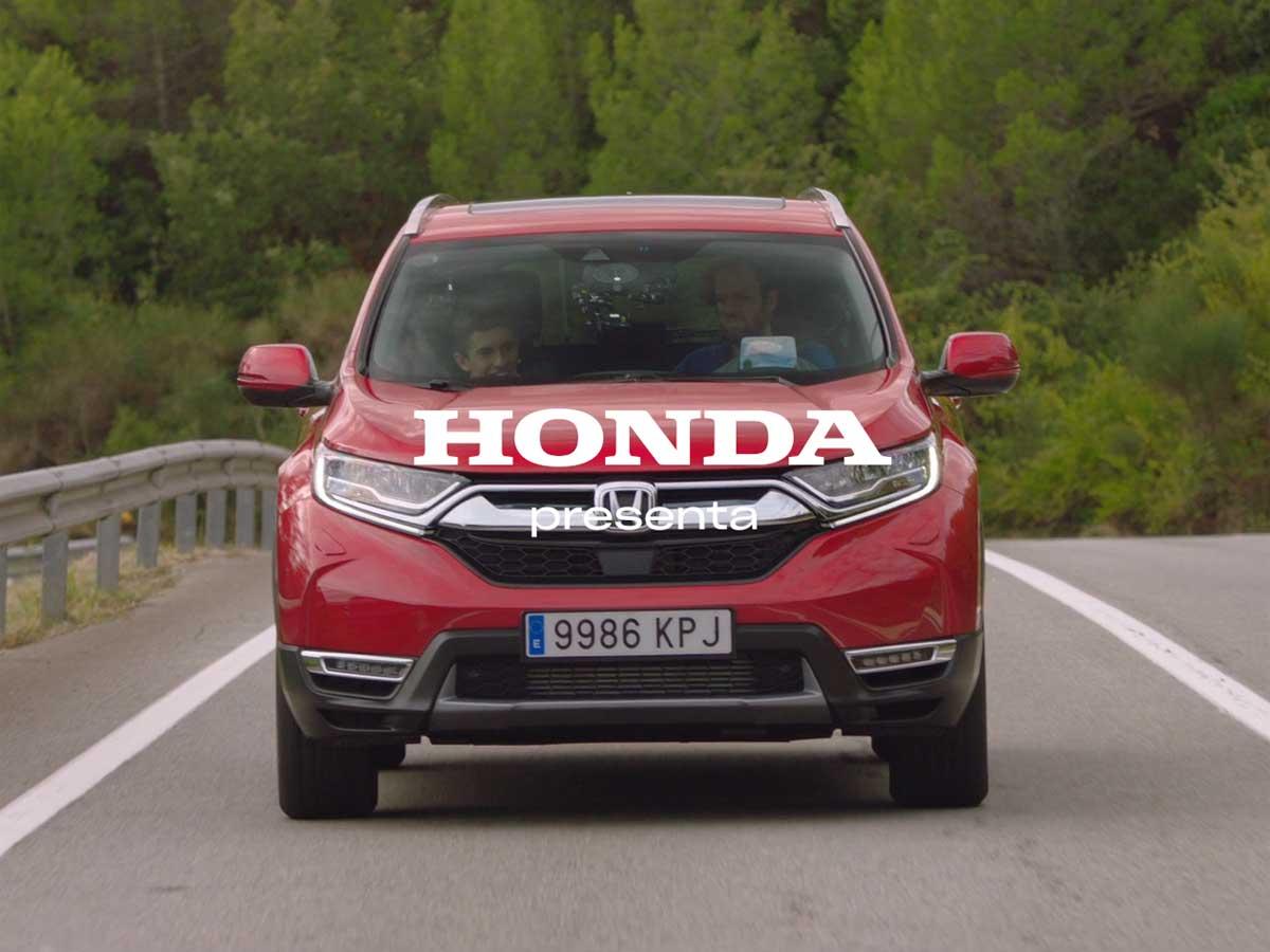 Nos subimos al coche con Marc Márquez y el nuevo Honda CR-V