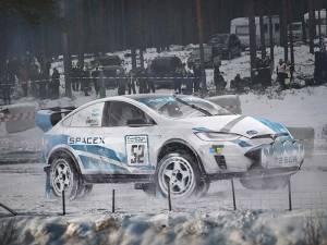 Tesla Model X Rally Car
