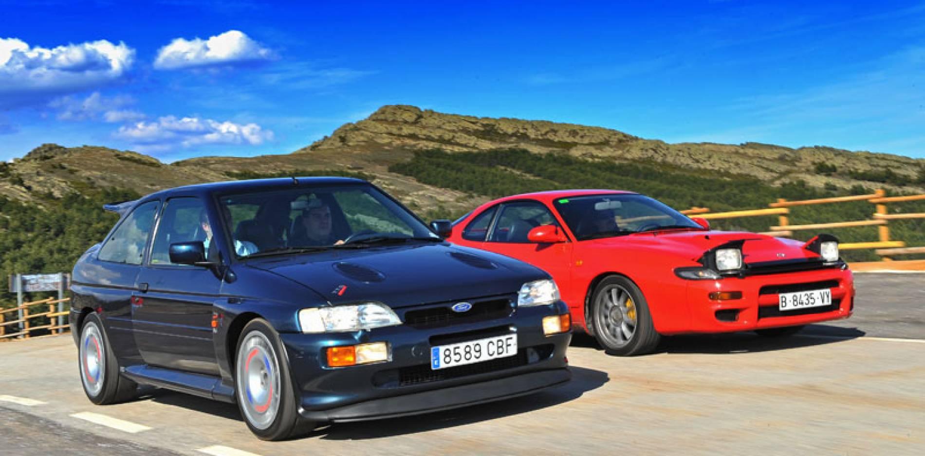 Ford Escort RS Cosworth vs. Toyota Celica Turbo 4WD: de los rallies a la carretera