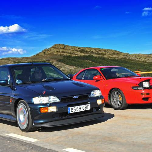 Ford Escort RS Cosworth vs. Toyota Celica Turbo 4WD: de los rallies a la carretera
