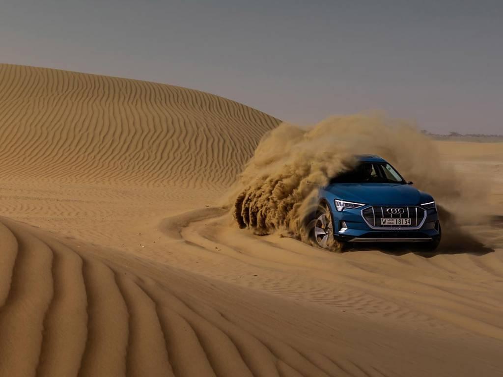 prueba Audi e-tron campo