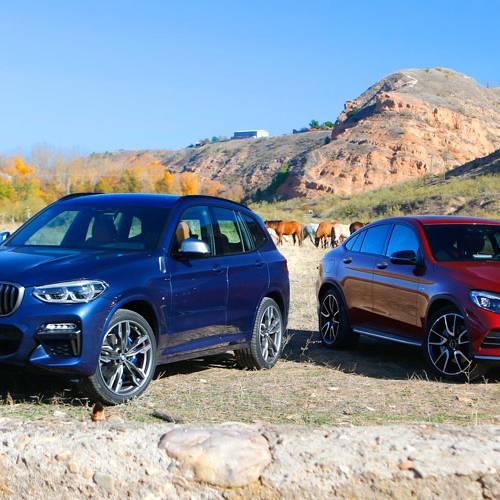 BMW X3 M40i vs. Mercedes-AMG GLC 43 Coupé: la crisis de los cuarenta