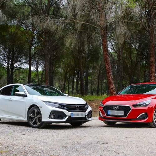 Honda Civic vs. Hyundai i30 Fastback: ¿la gasolina es el futuro?