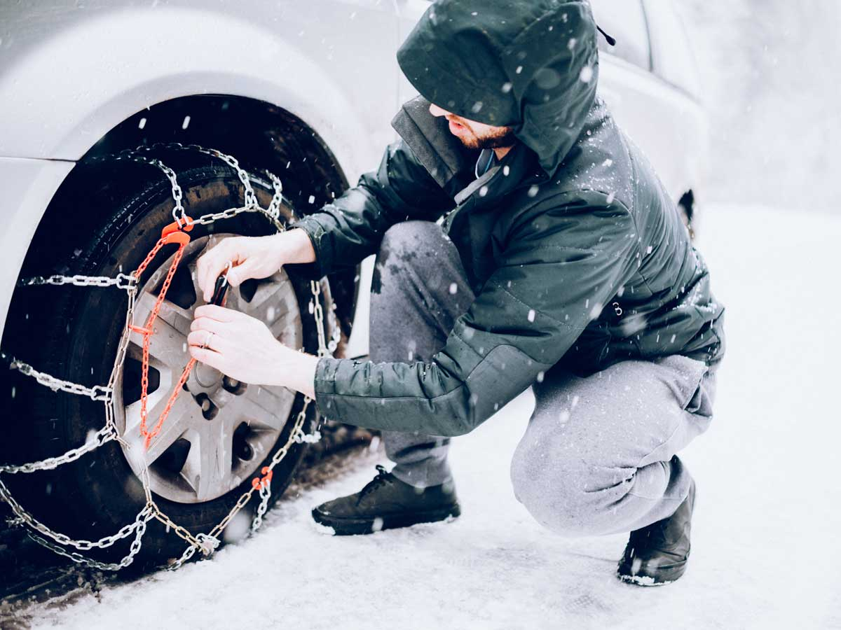 neumáticos de invierno o cadenas
