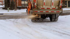 Camión esparcir sal