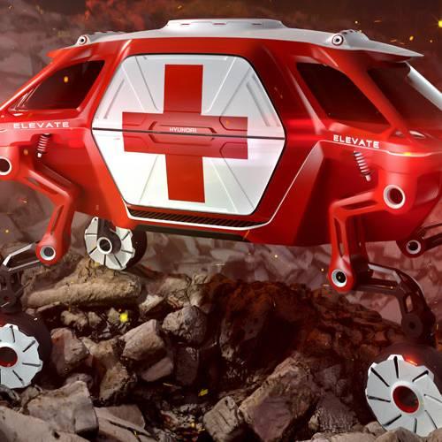 Hyundai Elevate Concept, llega el primer vehículo con ruedas robóticas