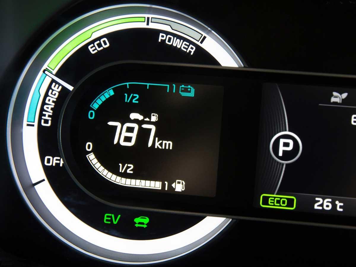 indicador coche híbrido