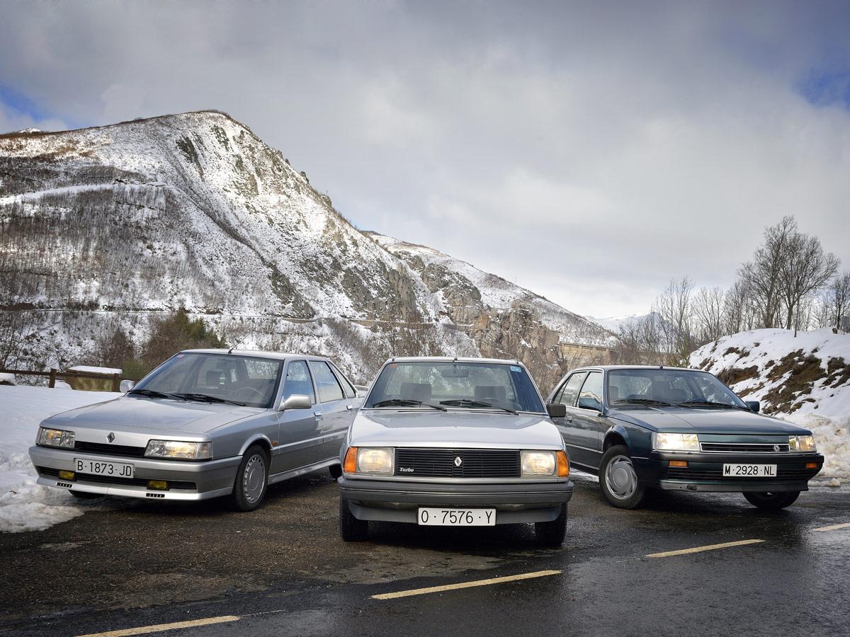 Renault 18 Turbo, Renault 21 Turbo y Renault 25 V6 Turbo