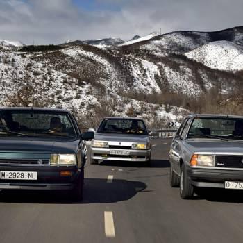 Comparativa retro con los Renault 18 Turbo, Renault 21 Turbo y Renault 25 V6 Turbo, turboexprimidos