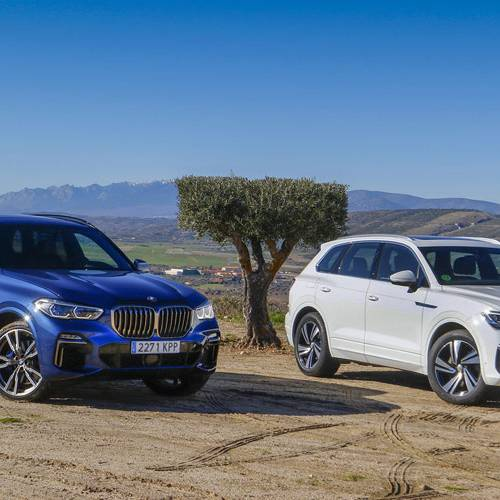 BMW X5 vs Volkswagen Touareg, lucha de titanes