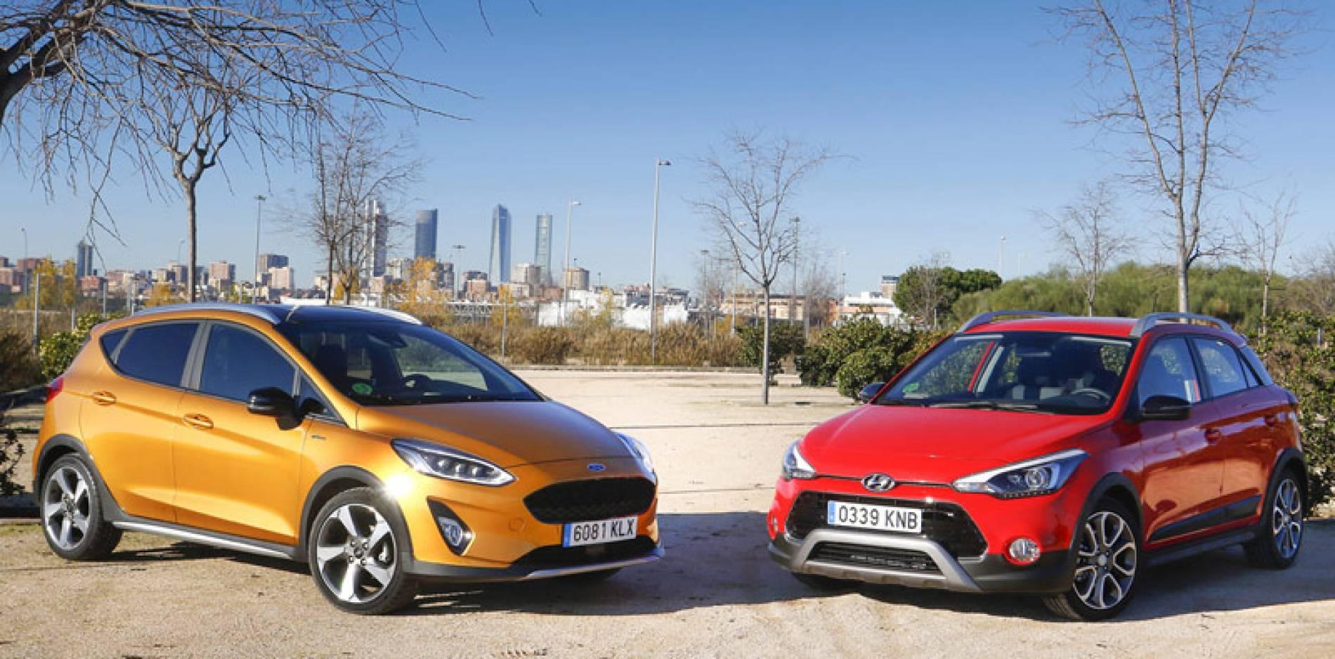 Comparativa de urbanos con espíritu aventurero, Ford Fiesta Active vs Hyundai i20 Active