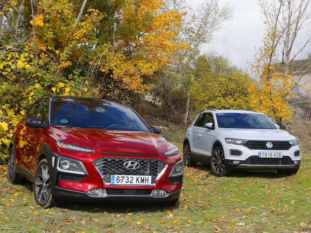 Comparativa Hyundai Kona vs Volkswagen T-Roc