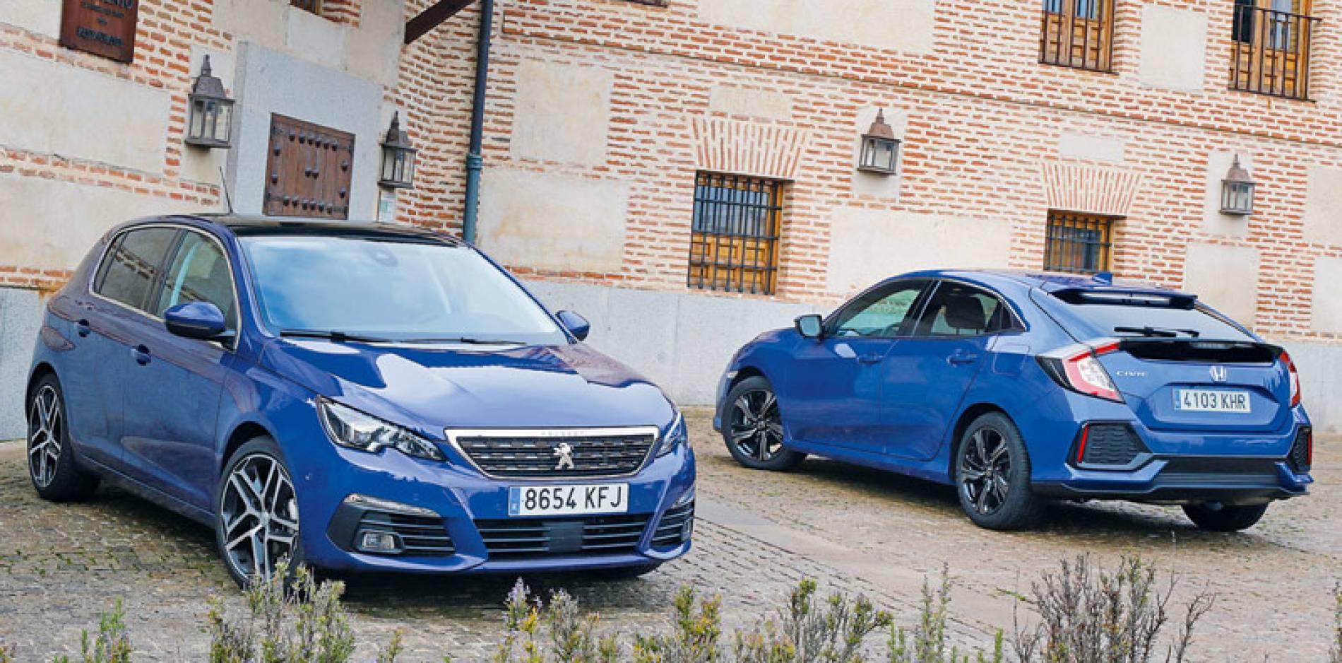 Comparamos el Peugeot 308 y el Honda Civic, evolución de la especie