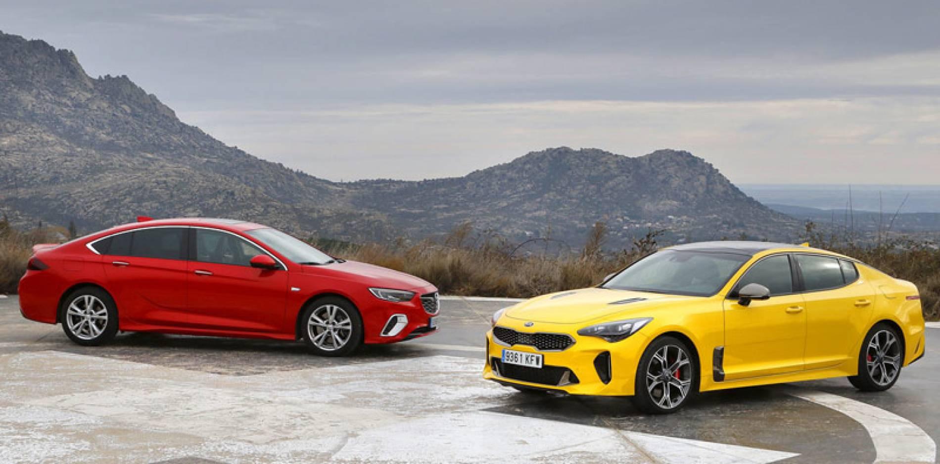 Comparativa de berlinas deportivas: Opel Insignia GSi vs Kia Stinger GT, placer para adultos